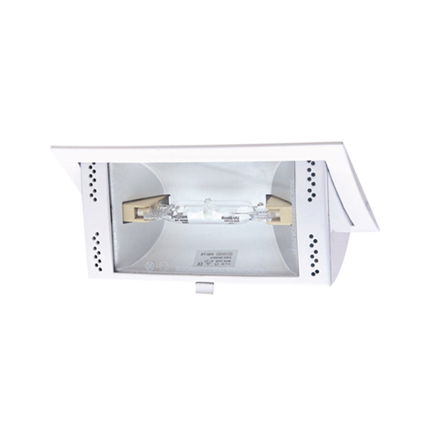 Extractor Baño Rectangular:Downlight de empotrar rectangular de halogenuro metálico 150 W en