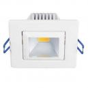 Aro LED cuadrado basculante blanco de 5W - 300 Lm Luz cálida 3000K