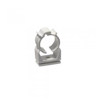 Abrazadera de pl stico de 25 mm para tubo r gido gris de pvc - Abrazaderas para tubos ...