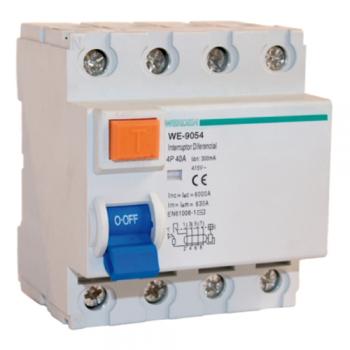 Interruptor diferencial de 4 polos x 40 a x 300 ma de - Interruptor diferencial precio ...
