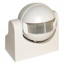 Detector de movimiento blanco orientable 1200W, 170º de apertura y regulación de tiempo y luz