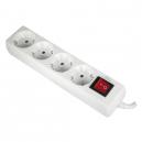 Base de 4 tomas con TTL 16 A con interruptor y cable de 1.5 m de largo de 3x1,5 mm