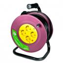 Alargador extensible de 25 mtrs. de 3x1,5 mm con 4 tomas con TTL y protector disyuntor