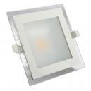 Downlight LED cuadrado 10W - 580 Lm 91º en blanco - Luz cálida 3000K
