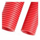 Rollo de 50 metros de tubo de canalización rojo de doble pared de 40 mm
