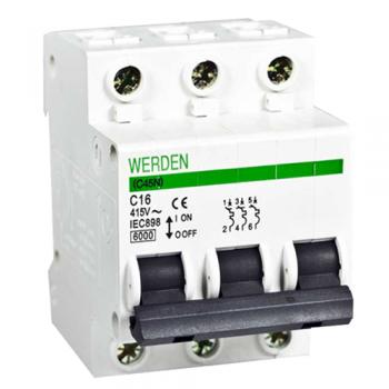 Interruptor magnetot rmico de 3 polos x 16 a curva c 240 415 v - Interruptor magnetotermico precio ...