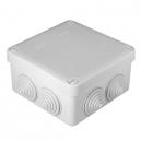 Caja estanca IP-55 cuadrada de 105x105x 55 mm con 8 conos y tornillos de vuelta