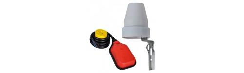 Interruptores fotoeléctricos y flotador (Boya)