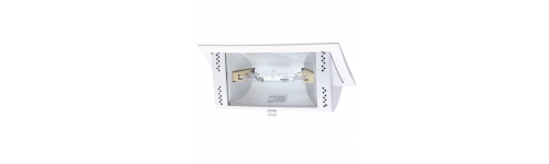 Downlight rectangular de halogenuro