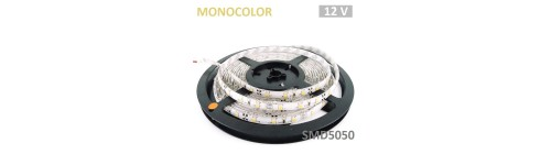 Tiras LED SMD5050 de 10mm 12V Monocolor