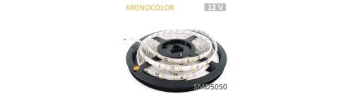 Tiras LED SMD5050 de 10mm 12V Monocolor