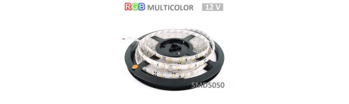 Tiras LED SMD5050 de 10mm 12V Multicolor RGB