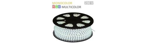 Tiras LED Directas a RED 230 V Monocolor y RGB